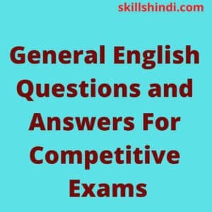 General English Questions